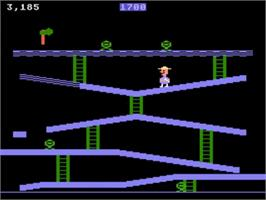 In game image of Miner 2049er on the Atari 5200.