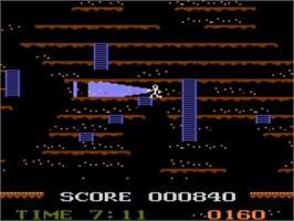 In game image of Mountain King on the Atari 5200.