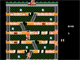 In game image of Mr. Do's Castle on the Atari 5200.