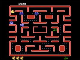 In game image of Ms. Pac-Man on the Atari 5200.