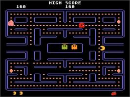 In game image of Pac-Man on the Atari 5200.