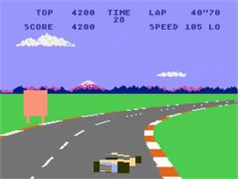 In game image of Pole Position on the Atari 5200.