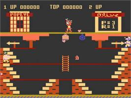 In game image of Popeye on the Atari 5200.