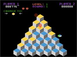 In game image of Q*bert on the Atari 5200.