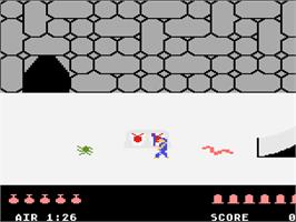 In game image of Quest for Quintana Roo on the Atari 5200.