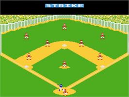 In game image of RealSports Baseball on the Atari 5200.