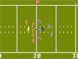 In game image of RealSports Football on the Atari 5200.