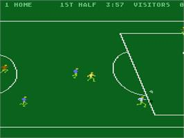 In game image of RealSports Soccer on the Atari 5200.