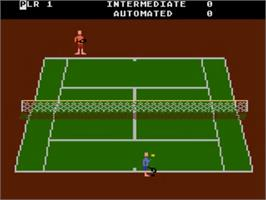 In game image of RealSports Tennis on the Atari 5200.