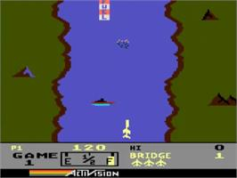 In game image of River Raid on the Atari 5200.