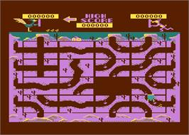 In game image of Road Runner on the Atari 5200.