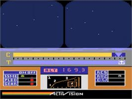 In game image of Space Shuttle: A Journey into Space on the Atari 5200.