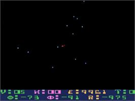 In game image of Star Raiders on the Atari 5200.