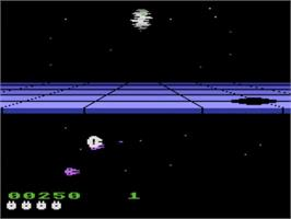 In game image of Star Wars: Return of the Jedi - Death Star Battle on the Atari 5200.