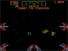 In game image of Star Wars Arcade on the Atari 5200.