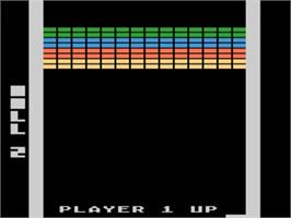 In game image of Super Breakout on the Atari 5200.