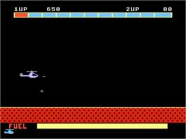 In game image of Super Cobra on the Atari 5200.