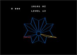 In game image of Tempest on the Atari 5200.