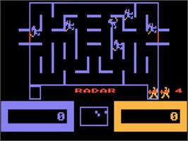 In game image of Wizard of Wor on the Atari 5200.