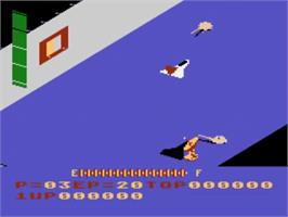 In game image of Zaxxon on the Atari 5200.