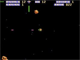 In game image of Zone Ranger on the Atari 5200.