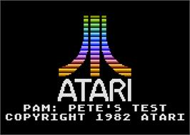 Title screen of Atari PAM: Pete's Test on the Atari 5200.