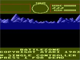 Title screen of Battle Zone on the Atari 5200.