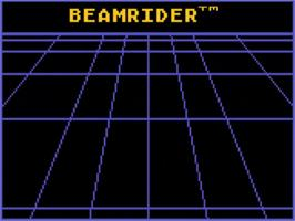 Title screen of Beamrider on the Atari 5200.