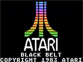 Title screen of Black Belt on the Atari 5200.