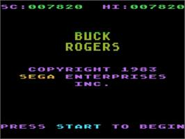 Title screen of Buck Rogers: Planet of Zoom on the Atari 5200.