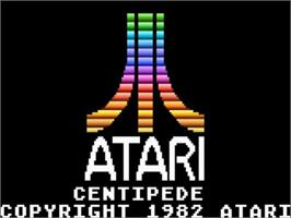 Title screen of Centipede on the Atari 5200.