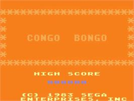 Title screen of Congo Bongo on the Atari 5200.