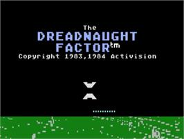 Title screen of Dreadnaught Factor on the Atari 5200.