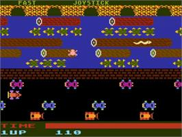 Title screen of Frogger on the Atari 5200.