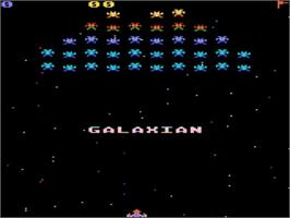 Title screen of Galaxian on the Atari 5200.