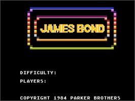 Title screen of James Bond 007 on the Atari 5200.
