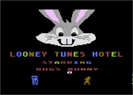 Title screen of Looney Tunes Hotel on the Atari 5200.