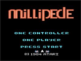 Title screen of Millipede on the Atari 5200.