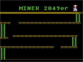 Title screen of Miner 2049er on the Atari 5200.