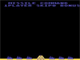 Title screen of Missile Command on the Atari 5200.