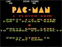 Title screen of Pac-Man on the Atari 5200.