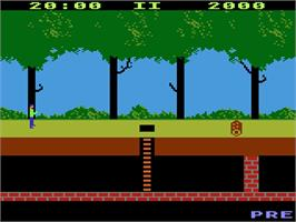 Title screen of Pitfall on the Atari 5200.