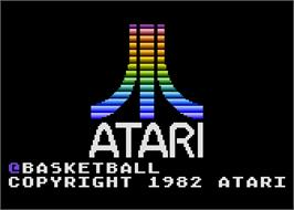Title screen of RealSports Basketball on the Atari 5200.