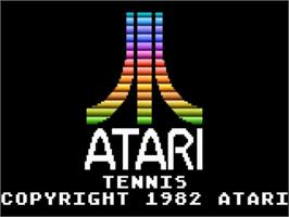Title screen of RealSports Tennis on the Atari 5200.