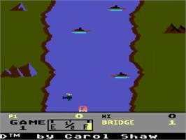 Title screen of River Raid on the Atari 5200.