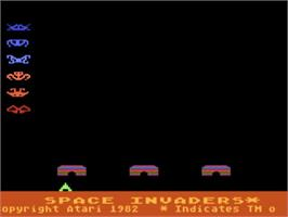 Title screen of Space Invaders on the Atari 5200.