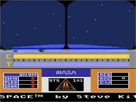 Title screen of Space Shuttle: A Journey into Space on the Atari 5200.