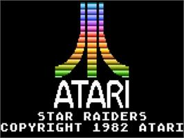 Title screen of Star Raiders on the Atari 5200.