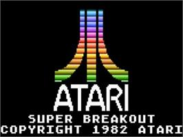 Title screen of Super Breakout on the Atari 5200.