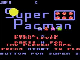 Title screen of Super Pac-Man on the Atari 5200.